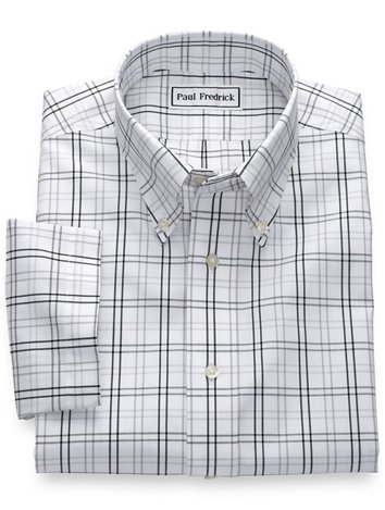 c50fcf98d42c Non-Iron Cotton Pinpoint Tattersall Short Sleeve Shirt