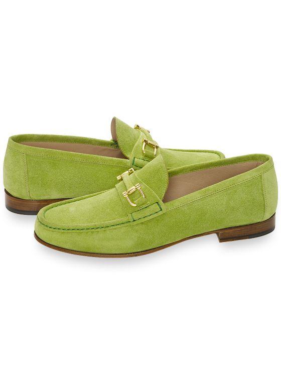 Mens Vintage Style Shoes & Boots| Retro Classic Shoes Suede Bit Loafer $229.50 AT vintagedancer.com