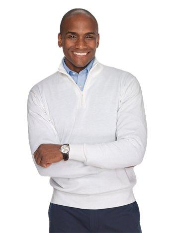 2043f4024d9c ... Polo Collar T-shirt.  65.00. Pima Cotton Zip Sweater