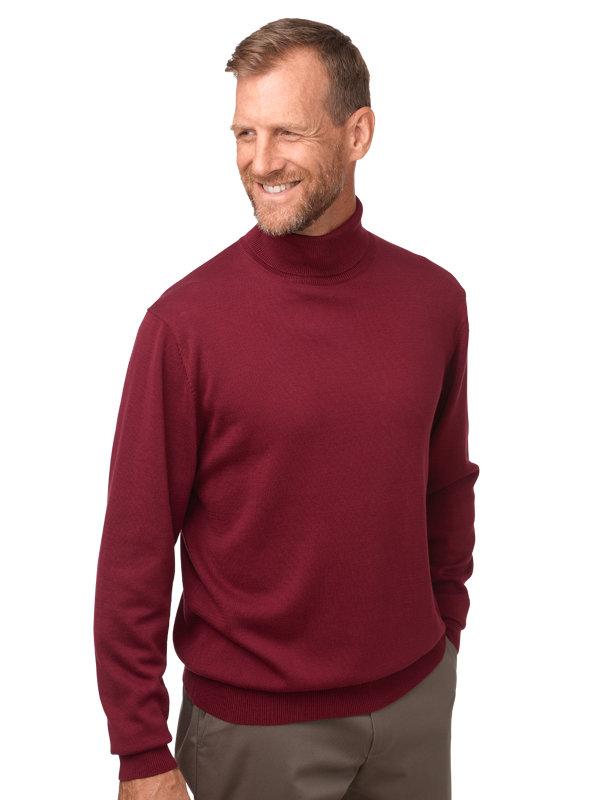 Paul Fredrick Mens Pima Cotton Zip Sweater