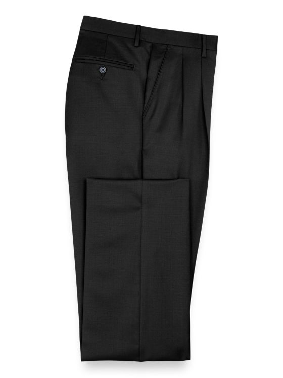 1940s Trousers, Mens Wide Leg Pants Wool Gabardine Pant $119.00 AT vintagedancer.com