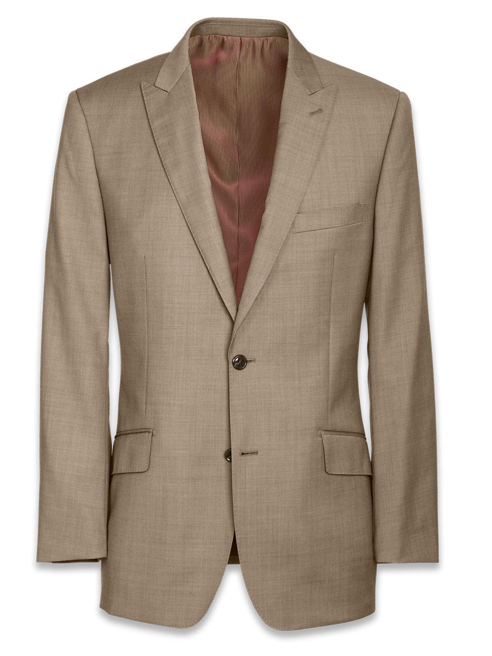 Paul Fredrick Mens Super 120s Sharkskin Notch Lapel Suit