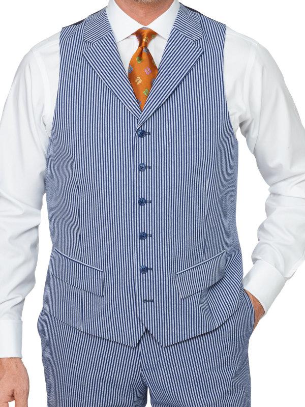 Cotton Seersucker Suit Vest Paul Fredrick