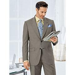 Italian Super 100's Wool Mini Grid Suit Jacket