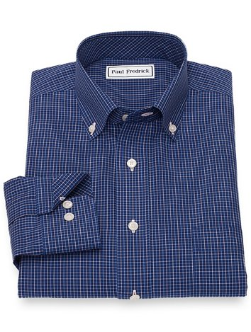 724efdbf65fc Non-Iron Cotton Tattersall Casual Shirt