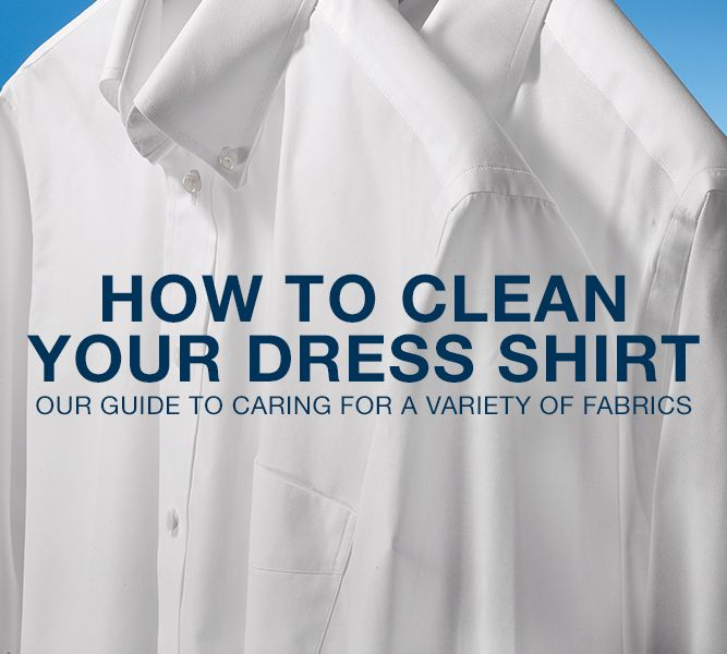 How to Wash Your Dress Shirts by Fabric Type | Paul Fredrick